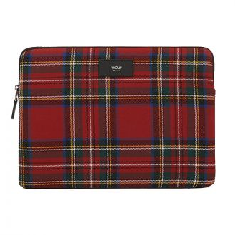 AW19 TARTAN ROUGE HOUSSE MACBOOK 13""