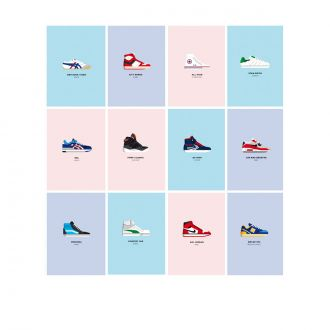 Set de 12 cartes postales Le Duo Sneakers
