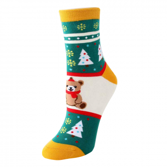 Chaussettes sapin Noël ours