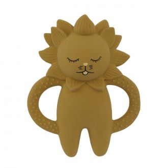 Jouet de dentition Lion Moutarde