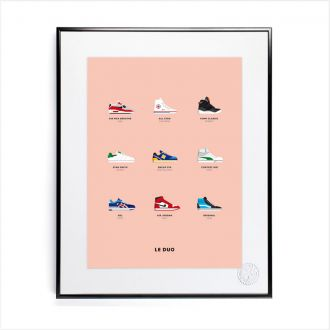 Affiche Le Duo Sneakers 40 x 50