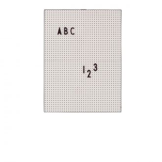 Letter board A4 Gris