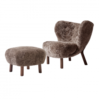 Fauteuil Little Petra VB1 + Pouf Sheep Sahara / Noyer