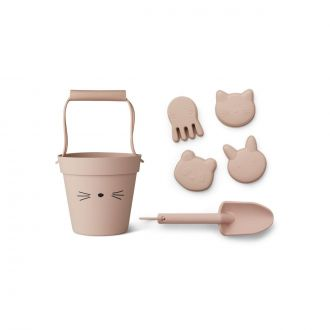 Set jouets de plage chat Rose