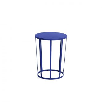 Table d'appoint/Tabouret Hollo Bleu