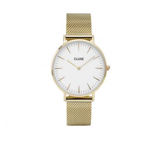 LA BOHEME MESH GOLD/WHITE Or/blanc