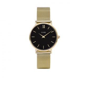 Montre Midnight Mesh Gold Black