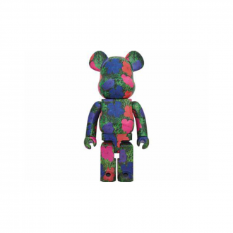 Bearbrick 1000% Andy Warhol - Flowers