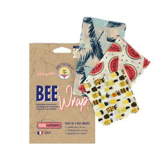 Set de 3 emballages cire d'abeille Original S-M-L