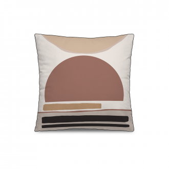 Coussin Personality Velours Rose / Marron - 45 x 45 cm