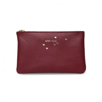 Pochette XS With love Bordeaux