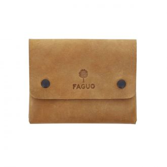 Portefeuille Snap Cuir Camel