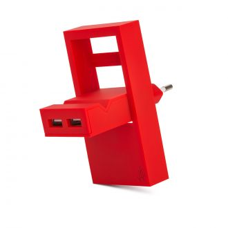 Chargeur USB Rock Rouge