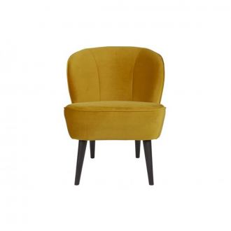 Fauteuil Sara Velours Ocre