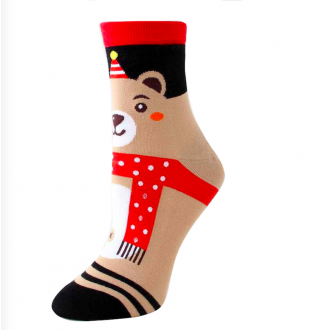 Chaussettes costume Noël ours
