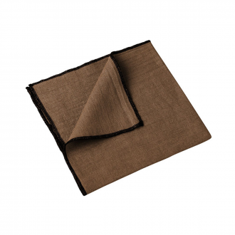 Lot de 4 serviettes Letia tabac