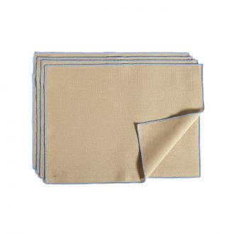 Set de 4 Serviettes de table Contour Beige
