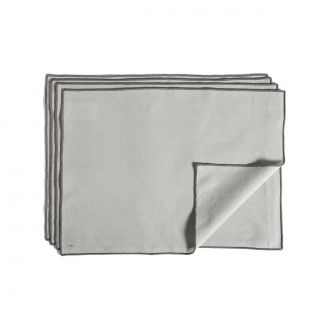 Set de 4 Serviettes de table Contour Gris