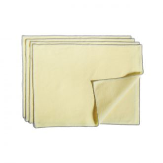 Set de 4 Serviettes de table Contour Citron