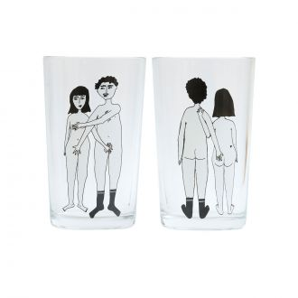Set de 2 verres Couple Nu Dos & Face