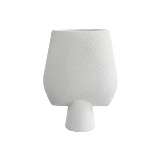 Vase Sphere Square Big Blanc