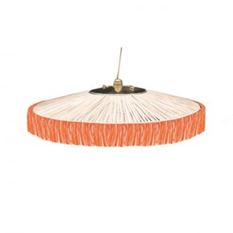 Suspension Parasol Franges MM Orange