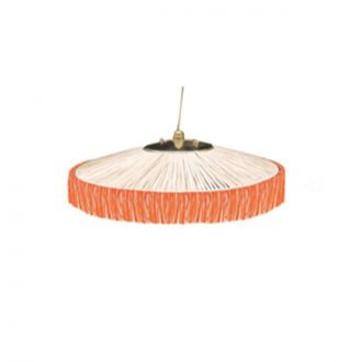 Suspension Parasol Franges PM Orange
