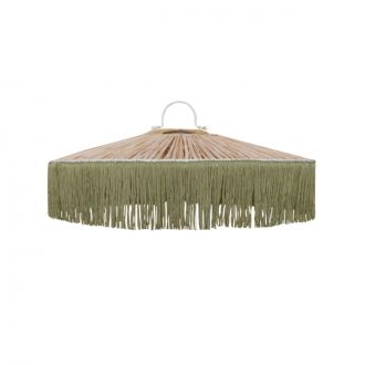 Suspension Parasol Franges MM Vert