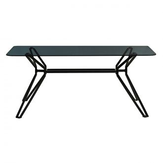 Table rectangulaire Black & Glass