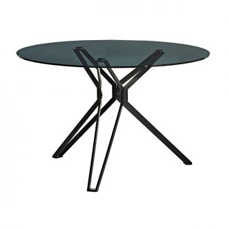 Table ronde Black & Glass