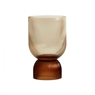 Vase / Bougeoir Riva L Marron