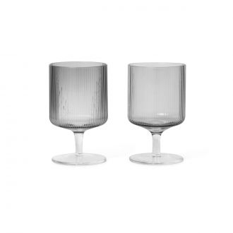 Set de 2 Verres à vin Ripple Smoke